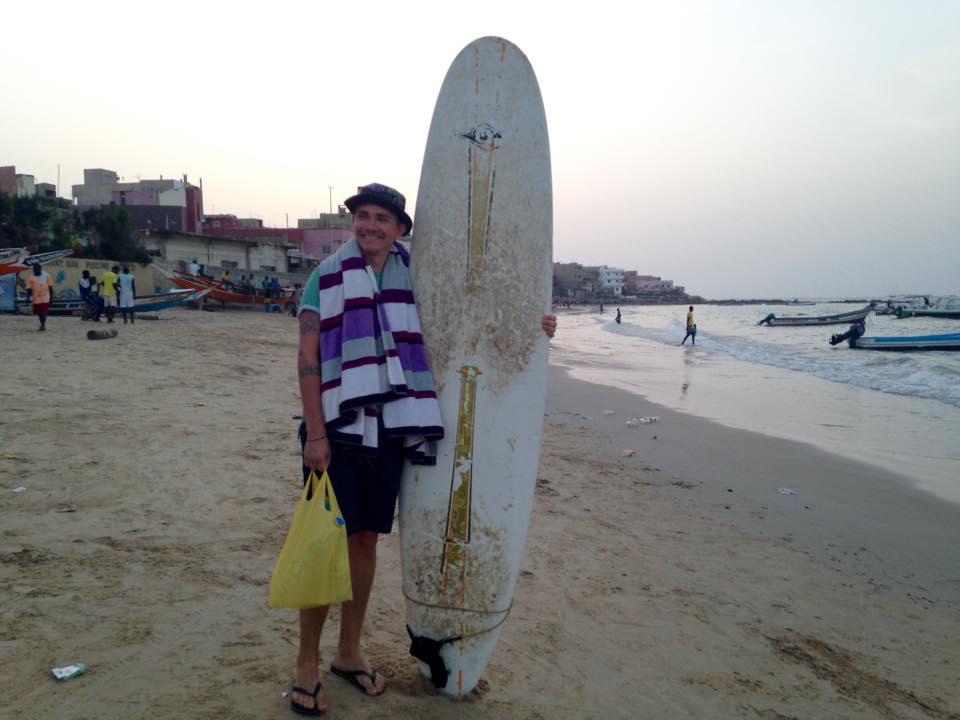 Alexander Brun er klar til surf